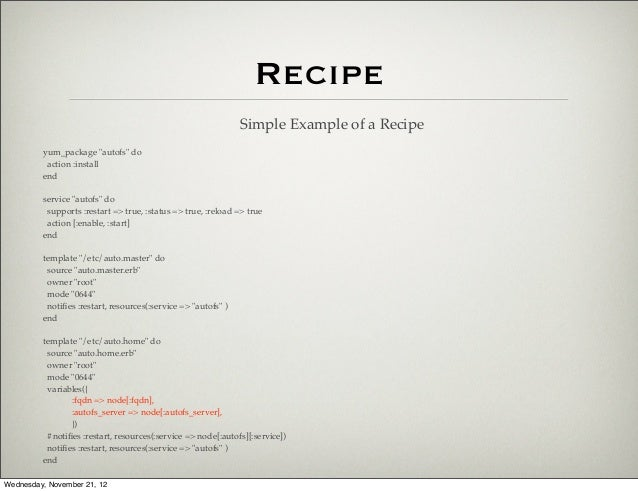 Cooking 5 Star Infrastructure With Chef