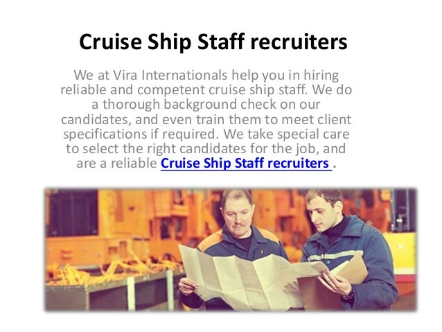 Chef Recruitment Agency India - Cruise ship recruitment agency