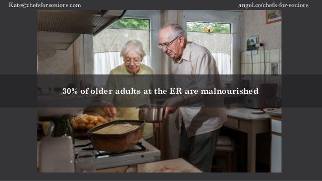 angel.co/chefs-for-seniorsKate@chefsforseniors.com 30% of older adults at the ER are malnourished