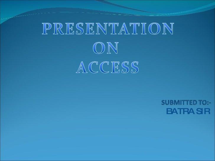 Access in pdf 2007 ms telugu tutorial