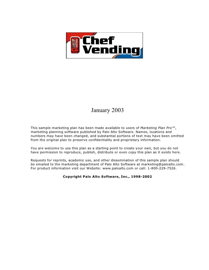 January 2003This sample marketing plan has been made available to users of Marketing Plan Pro™,marketing planning software...
