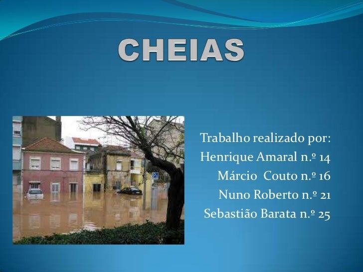 CHEIAS<br />Trabalho realizado por:<br />Henrique Amaral n.º 14<br />Márcio  Couto n.º 16<br />Nuno Roberto n.º 21<br />Se...