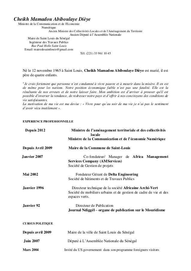 Cheikh Mamadou Abiboulaye Dièye Ministre de la Communication et de l'Economie Numérique Ancien Ministre des Collectivités ...
