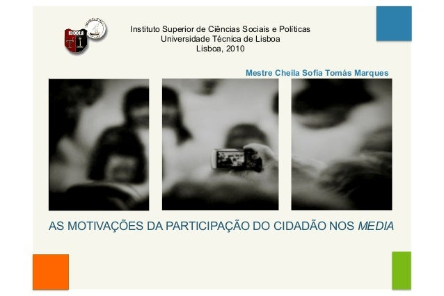 Instituto Superior de Ciências Sociais e Políticas Universidade Técnica de Lisboa Lisboa, 2010 Mestre Cheila Sofia Tomás M...