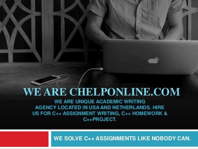 help with c homework writing