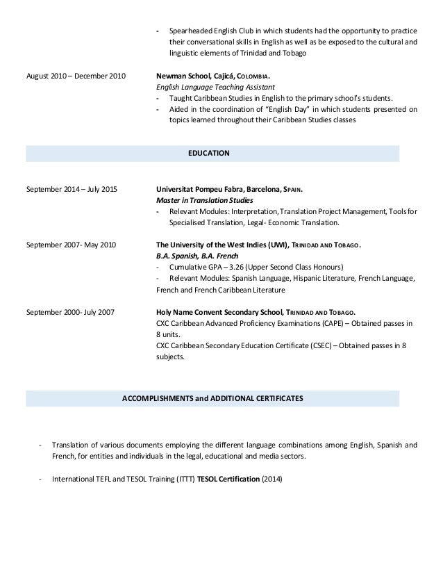 chelsie murray cv  english
