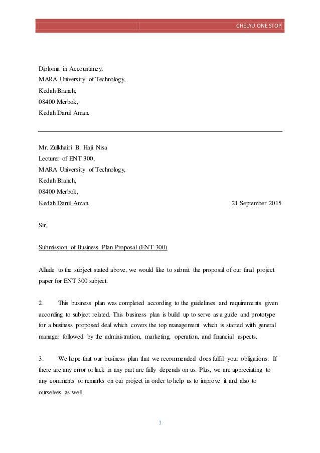 cover letter ent300