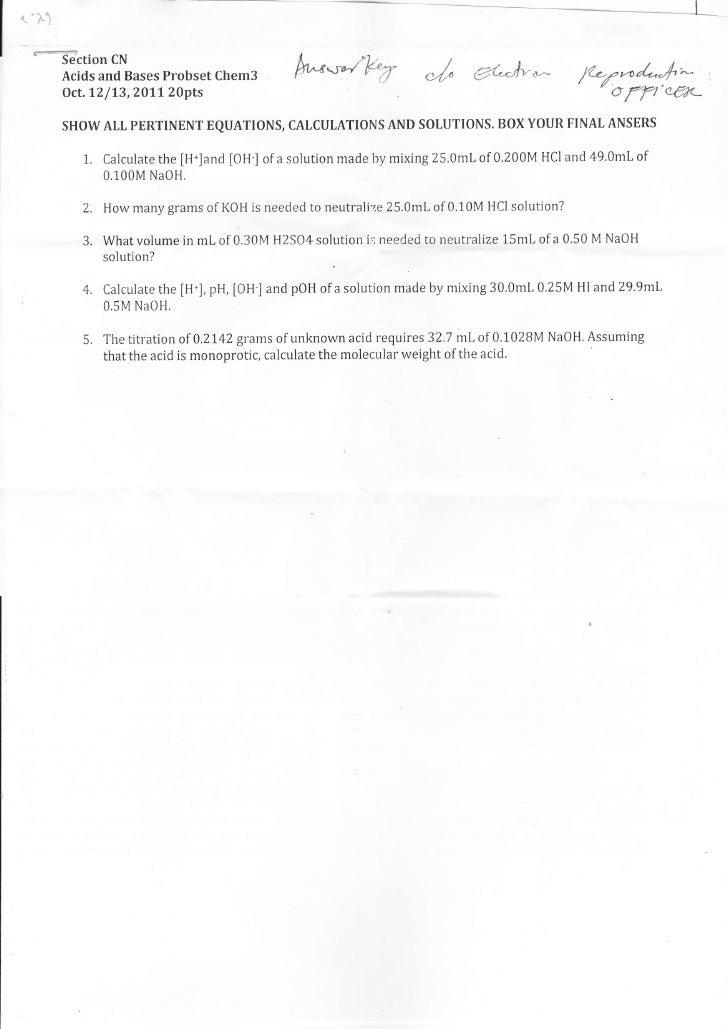 l     Al     *-Gction     CN          Acids and Bases Probset Chem3          Oct.12/13,?Olt 20pts                         ...