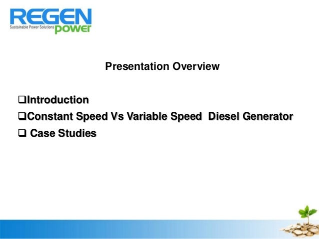 Chem Nayar Synthetic Storage Using Variable Speed Diesel
