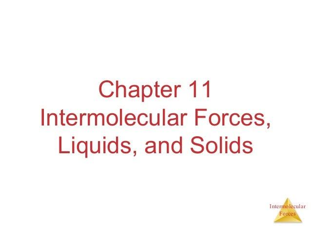 IntermolecularForcesChapter 11Intermolecular Forces,Liquids, and Solids