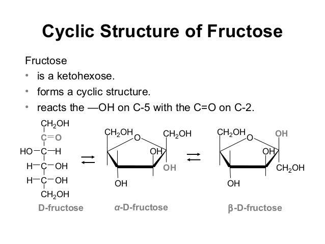 D Fructose Structure Chem 1123 unit 7a