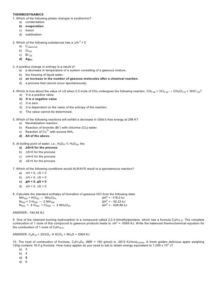 Specific Heat Worksheet 2 - specific heat worksheet 2 with answers ...