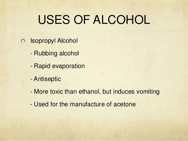 ALCOHOL and PHENOL