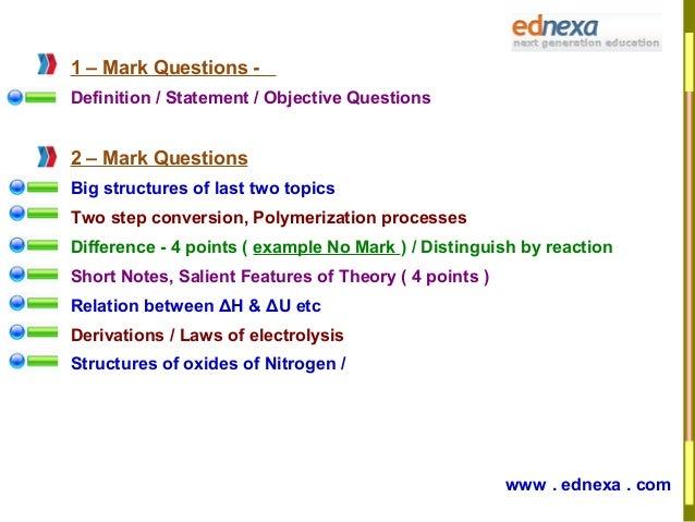 HSC Chemistry Preparation Tips Part - II