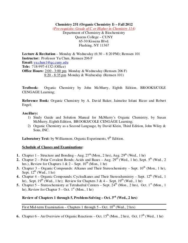 chem 251 organic chem queens college chemistry 251 syllabus 2012 rh slideshare net david klein organic chemistry solutions manual pdf download david klein organic chemistry solutions manual pdf free