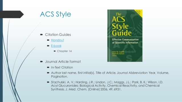 Chem 323 acs style and using mendeley acs style citation ccuart