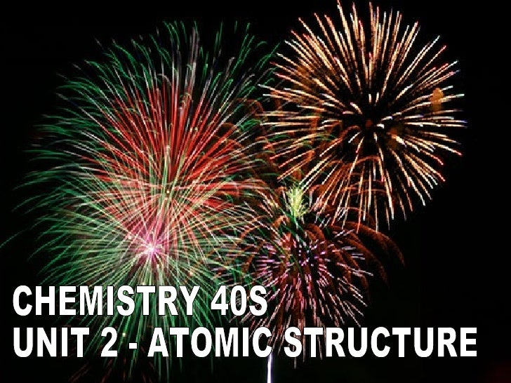 Outcome 2-01Outline the historical development of the Quantum Mechanical Model of the atom.                               ...