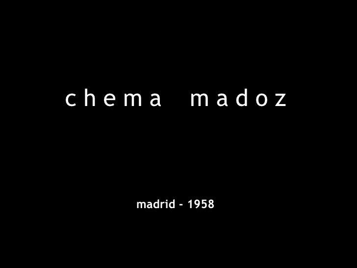 c h e m a  m a d o z madrid - 1958