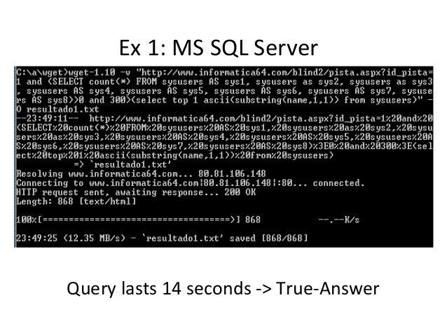 Ex 1: MS SQL Server Query lasts 14 seconds -> True-Answer