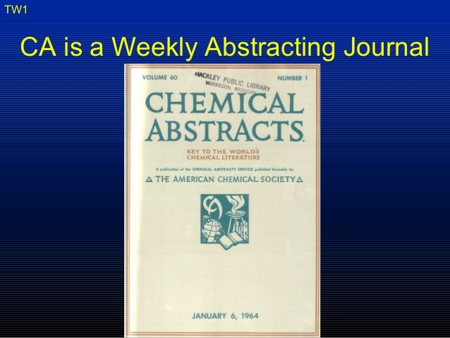 Chem abstracts