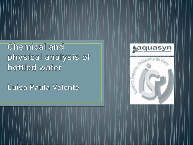 thesis on physicochemical analysis of water Assessment of physico-chemical quality of groundwater in rural area nearby sagar city, mp, india  analysis was carried out for various water quality parameters were.