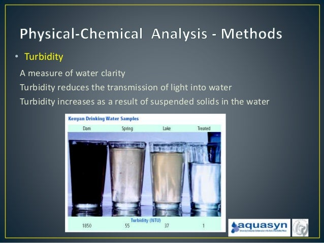 chemical analysis of water supply Ensure that a safe, adequate, and reliable water supply is available to the public and to restore, enhance, and maintain the chemical, physical, and biological integrity of the waters of the state to ensure.