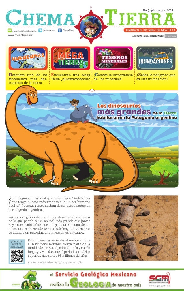 No. 5, julio-agosto 2014 www.chematierra.mx PERIÓDICO DE DISTRIBUCIÓN GRATUITAcontacto@chematierra.mx ChemaTierra@chematie...