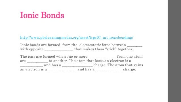 Chemcial Bonding