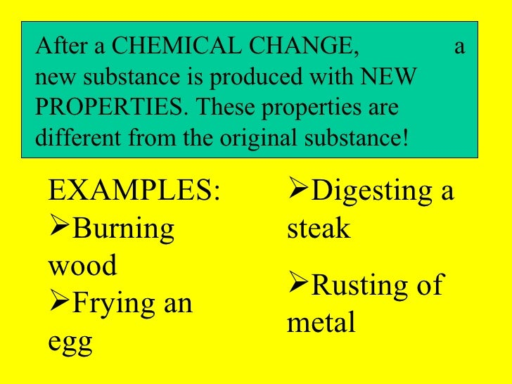 Chemical Properties And Changes