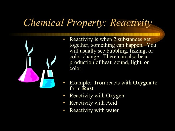 Examples of chemical properties