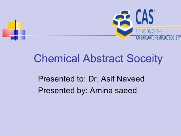 Chemical abstract
