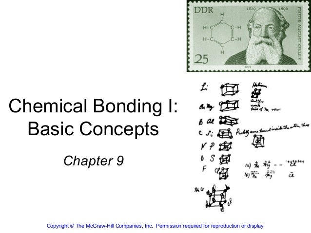 Chemical Bonding I:  Basic Concepts          Chapter 9    Copyright © The McGraw-Hill Companies, Inc. Permission required ...