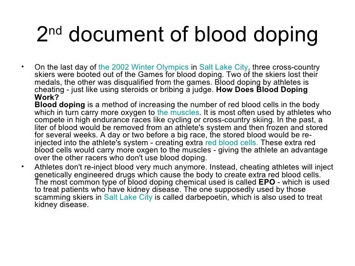 athletes lost their way in doping After a lifetime of training, it isn't fair to lose to someone who has cheated her way to the medal stand if doping in sports is illegal due to health reasons, why do athletes risk it what sort of pressure does a country put on its athletes to represent their nation well by bringing home the gold.