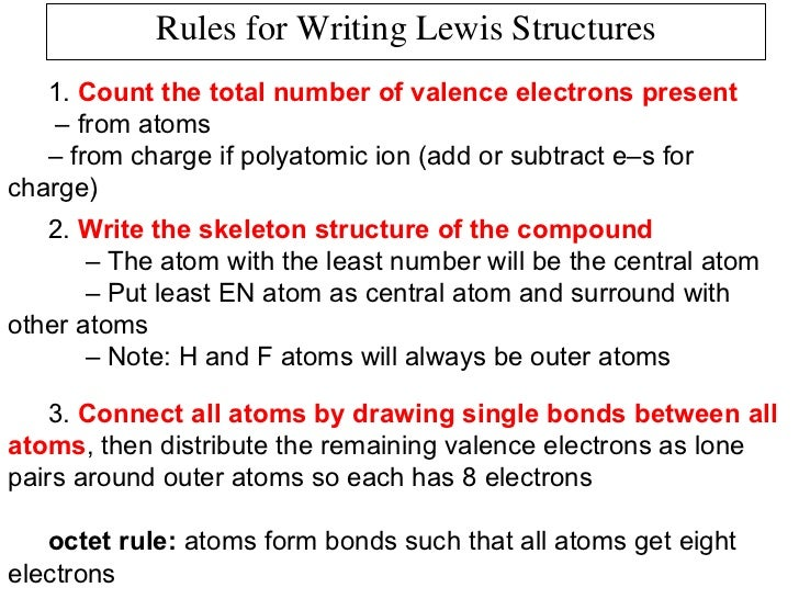 Line Drawing Rules Chemistry : Chemical bonding part