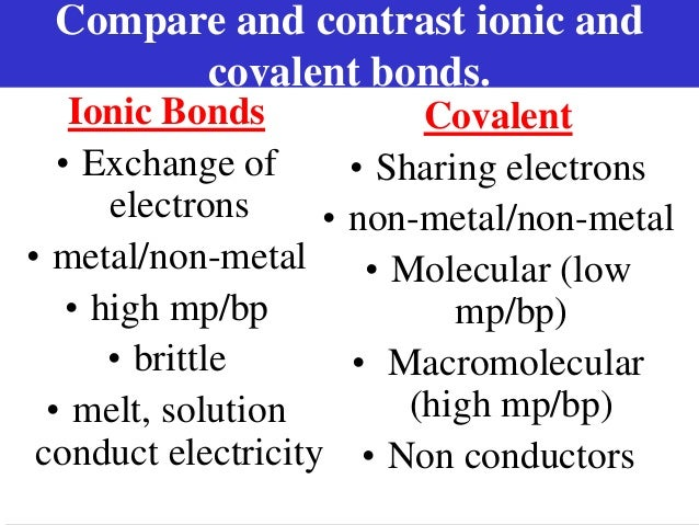 how to remember the difference between ionic and covalent bonds