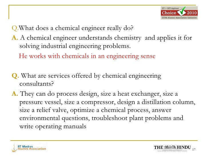 Careers in Chemical engineering