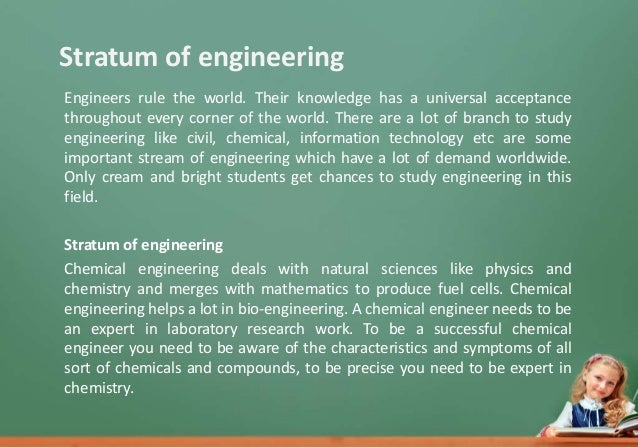 "chemical engineering essay Students must have a declared major in chemical engineering and complete a written essay on a topic as determined by the corporate sponsor john won the dow essay award, answering the question: ""what can chemical engineers do to boost the confidence of the general public in chemistry innovations"" read more."