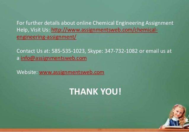 Online chemical engineering homework help