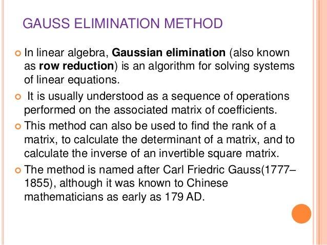 how to use the gauss jordan method