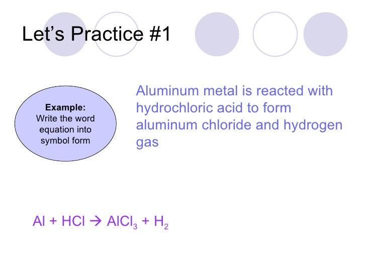Hydrogen Chloride Symbol For Hydrogen Chloride Gas