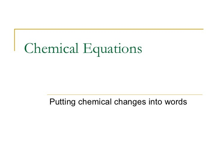 Balancing Chemical Equations – Chapter 7 Worksheet 1 Balancing Chemical Equations