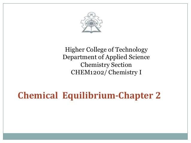 Chemical equilibrium srp