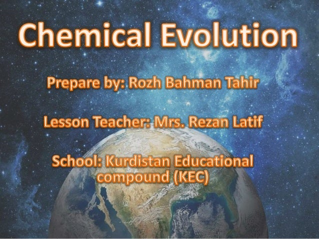 Chemical evolution theory of life's origins
