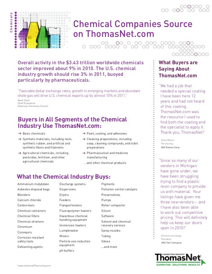 Chemicals                                                            Chemical Companies Source                            ...