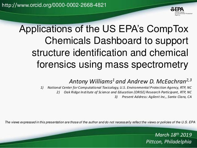 Applications of the US EPA's CompTox Chemicals Dashboard to support structure identification and chemical forensics using ...