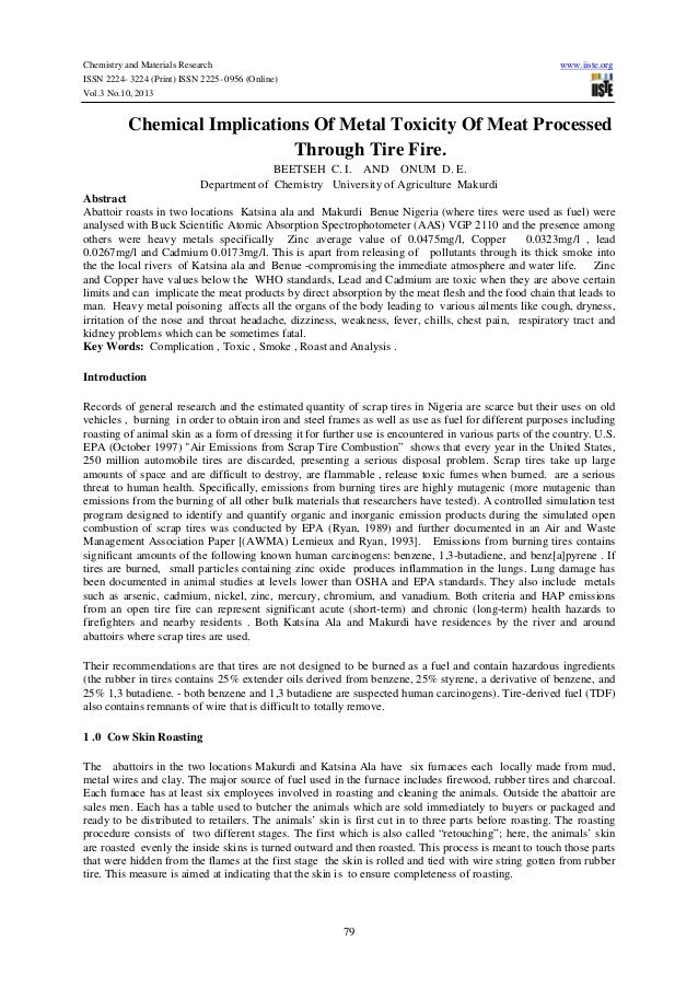 Chemistry and Materials Research ISSN 2224- 3224 (Print) ISSN 2225- 0956 (Online) Vol.3 No.10, 2013  www.iiste.org  Chemic...