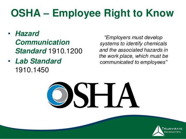 Understand That The Right To: Get A Grip On Your Chemical Inventory