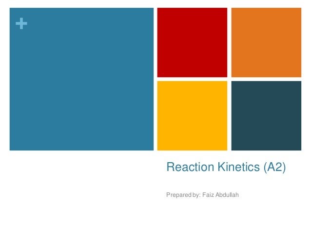 + Reaction Kinetics (A2) Prepared by: Faiz Abdullah