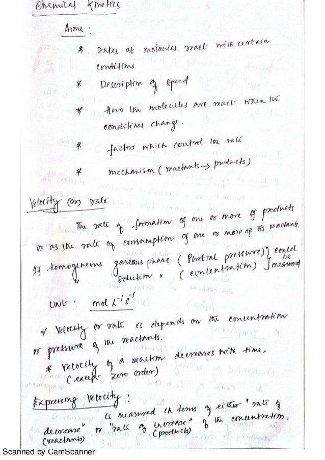CY 8151- Engineering Chemistry-I, Unit-III Chemical Kinetics