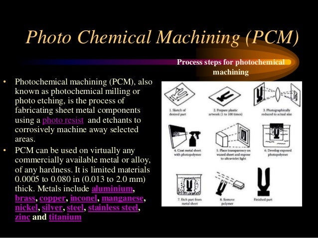 Chemical Machining